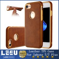 Wholesale Luxury Leather TPU Cases For Iphone Plus Back Cover Electroplating Frame Hybrid Slim Soft Silicone Cases for Iphone S Plus