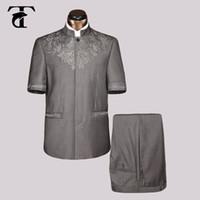 Wholesale 2017 Summer Short Sleeve Men Suit Blazer Jacket Clothing Blazer Men Fashion New Casual Blazer Safari Suit Jaqueta Masculina