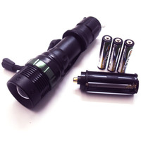 aluminum body work - LED Flashlight CREE Tactical Emergency Nightlight Aluminum Body Water Resistant Handheld Spotlight For Work Camping AAA Battery Included