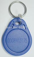 Venta al por mayor-100pcs / bag 125Khz RFID Proximidad EM tarjeta de identificación de Token etiquetas Keyfobs clave de control de acceso tiempo de asistencia