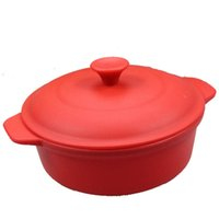 Wholesale 19 cm Food Grade Silicone Cooking Tools Big Food Steamer Pot With Lid Silicone Soup Bowls