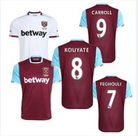 Wholesale Top Thai quality West Ham red home soccer jersey FEGHOULI CARROLL SAKHO AYEW PAYET United away football shirt ET