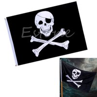 Wholesale For Large Pirate Flag cm Feet Skull and Crossbones Jolly Roger Banner Grommet