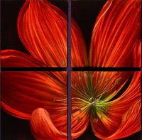 Wholesale Metal Wall Art Abstract Natural Flower Home Decor Modern Oil Painting Art cm with Panels