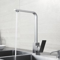 Wholesale BLH F515 Brushed Stainless Steel Kitchen Sink Faucet Single Hole Hot Cold Water Mixer Basin Faucet Tap