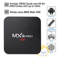 Wholesale New MXQ Pro K TV Box Amlogic S905X Quad Core GB Flash Android Ultra K Streaming Kodi16 full load with