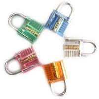 Wholesale 2016 Colorful Transparent Visible Cutaway Padlock Lock Pick For Locksmith Practice Training door opener auto pick