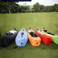 Wholesale Blanksmall Inflatable Airsleep Camping Bed Popular Lamzacs Beach Lounge Sofa Summer Foldable Hiking Bed DOM958