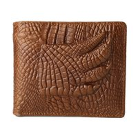 Wholesale Alligator Genuine Leather Men Wallet Cute Pattern Coin Purse Vintage Wallet Famous Brand New Wallets Card Holder Purses