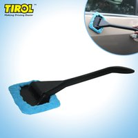 Wholesale Microfiber Auto Window Cleaner Long Handle Car Wash Brush Dust Car Care Windshield Shine Towel Handy Washable Car Cleaning Tool