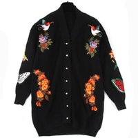 bee jumper - Haneki Autumn Winter New European Style High end Class Butterfly Bee Tiger Embroidery Wool Cotton Sweater Casual Jumpers