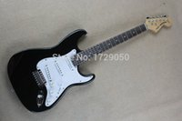 big red guitar - Real photo New Custom F ST rosewood fingerboard black big headstock Head ST Electric Guitar stratocaster