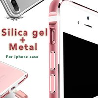 apples border - For iphone7 plus Metal Frame Phone Case Silicone Metal Soft Border Hot Sale Case with Opp Package