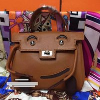 Wholesale new arrival brown color kel doll in Swift leather best quality