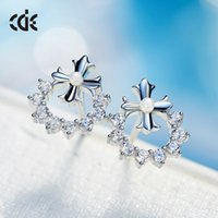 Wholesale Female temperament earrings earrings accessories products anti allergy cross personality