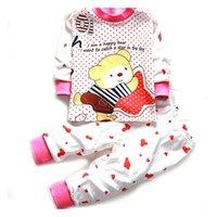Wholesale Newborn baby Girls boys Sleep wear clothing Set children cartoon Pajamas Suit Long Sleeve kids Cotton autumn winter Underwear colors