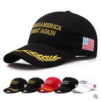 Wholesale Trump Hat Make America Great Again Republican Unisex Cap Adjustable Embroidery Caps Campaign Hat