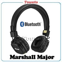 Cheap Marshall Major II Wireless Headphones Major 2 Bluetooth headset with High Quality Black also have wired monitor headphone Towoto