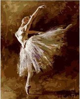 Fashion ballet drawings - Frameless pictures painting by numbers hand painted canvas drawing diy oil painting by numbers cm ballet queen