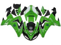 Wholesale 3 Free Gifts New ABS Motorcycle Fairing Kit Fitment For Kawasaki Ninja ZX10R R hot sales black Green white