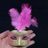 Wholesale Supper Mini Mask Venetian Masquerade Feather Mask party decoration cute wedding gift Carnival Mardi Gras Prop mix color for decoration