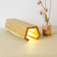 Wholesale Bamboo LED Light Modern and Fashion Light in Bedroom Office for birthday gift to friends with button Simple style