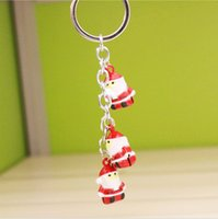 Wholesale Cute creative key chain Japan and South Korea Christmas old man key ring men s women s ring