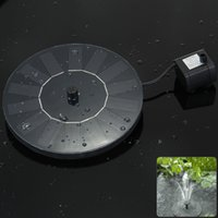 Wholesale High Quality V Floating Low Power Consumption Solar Fountain Pump Light for Birdbath Fish Tank Small Pond