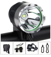 battery pack for camping - Cree T6 LED Bike Bicycle Light Headlight Headlamp with Battery Pack and Charger Complete Set for Camping Hiking Outdoor Sports