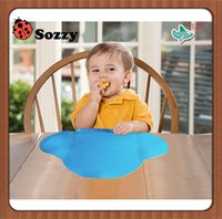 Wholesale Silicone Waterproof Baby Bib Infant Silicone Diner Portable Tablecloth For Children Baby Feeding Mat Home Travel Place Mat