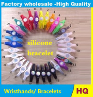 Wholesale 500 wristbands silicone energy bracelet band balance hands wristband XS S M L XL