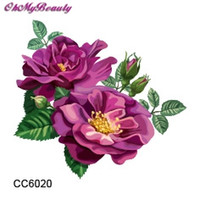 Wholesale Cheapest Small Tattoo Purple Peony Flower Designer Temporary Tattoo Sticker Body Art Water Transfer Sticker For Face