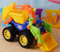 Wholesale The new hot style beautiful Large beach inertia children excavator truck simulation model The booth toys
