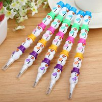 Wholesale Standard Pencils Cartoon HB Pencil for Drawing Writing Stationery Office school Supplies Christmas Kid Student Gift
