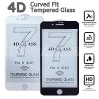 apple curved glass - New Arrival MM D Full Cover Screen Protector For iPhone S Plus High quality D Curved Tempered Glass With Retail Box