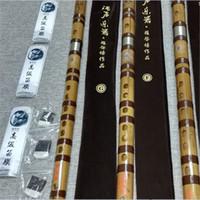 achat en gros de joints de mannequin-LQP005 Flûte de bambou chinoise Dizi pour concert professionnel Orchidee à café Raccord en cuivre Mannequin Basse G A B BKey C D E F G Instruments de musique