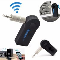 Wholesale Handfree Car Bluetooth Music Receiver Universal mm Streaming A2DP Wireless Auto AUX Audio Adapter With Mic For Phone MP3