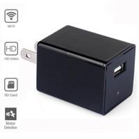 Wholesale 32GB P Mini Wifi Surveillance Camera HD P2P Hidden Camera USB Wall Charger Portable IP Camera for Nanny Cam Home Security