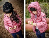 ab candy - 2016 girls down jacket hooded new style fashion warm baby clothes winter children down jacket Candy color down jacket in stock AB