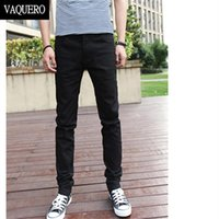 basic denim jeans - Basic Styles Mens Jeans Stretch Classic Black Denim Mens Pants Casual Fashion Slim Fit Jeans Size