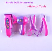 accessories haircuts - 2016 new Doll s Plastic Haircut Sets For Barbie Dolls For Kali dolls girls toys Kid s Play House Toys Doll Accessories