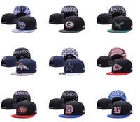 baseball hats wholesale lot - 10pcs New Snapback Caps Adjustable Baseball Football All Teams Snap Back Hats Snapbacks High Quality Players Sports