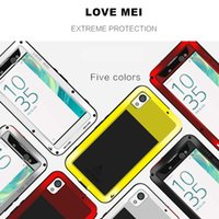 aluminum protective case - For Sony Xperia XA Ultra Protective Phone Cases LOVE MEI Powerful Dirtproof Shockproof Aluminum Metal Back Case Cover