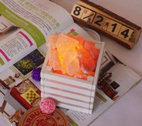 bar table wooden - Himalayan pure natural crystal salt lamp small wooden bar bedside night light gift table lamp