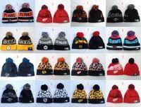 Wholesale 2017 brand Newest NHL Blackhawks Beanie caps hip hop hockey winter hat bone chapeau knit wool hats