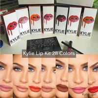 Wholesale KYLIE JENNER colors Kylie Brands LIP KIT Lipliner pencil Velvetine Liquid Matte Waterproof Lipstick Makeup Lip Gloss Lipsticks