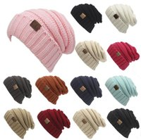 Wholesale Unisex CC Beanies Colors Fashion Knitted Hats Winter Knitted Woolen Beanies Adult Hip Hop Beanie Hats Winter Outdoor Hats D746