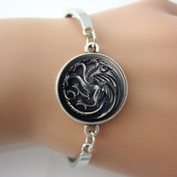 bar top games - Top selling film Bracelet Good Ideas jewelry for men Game Of Thrones Bracelet House Targaryen Movie Bracelet silver jewelry