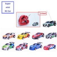 Vente en gros - Amazing 2016 New Coke Can Mini Rc Car 4wd 4CH Micro Poker Print Haute vitesse à distance Télécommande Racing Rc Car Toys With 12 Color