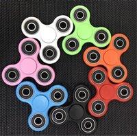 bar finger - Hand Spinner Aluminum Tri Bar Hand Fidget Spinner EDC Fidget autism ADHD toy Hand Fidget spinner DHL